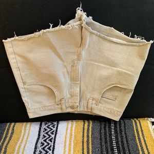 Wrangler tan cut off shorts size 32